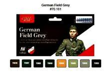 Model Color Set - German Field Grey Uniform Paint Set (x8)- VAL70181