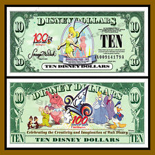 "Disney 10 Dollars, 2002 Series ""AA"" Disneyland Tinker Bell Uncirculated"