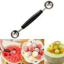 Cool Double-End Melon Ice Cream Baller Scoop Fruit Spoon Kitchen Tool Seraphic