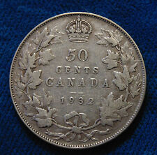 CANADA 1932 silver half dollar fifty 50 cents cent piece KING GEORGE V KEY DATE