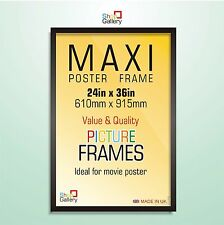 MAXI Photo Picture MOVIE POSTER Frames BLACK MDF WOOD Styrene 36x24in 915x610mm