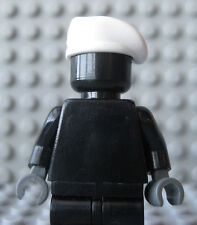 Custom White BERET Hat for Lego Minifigures -Military-