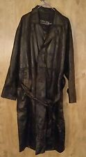 Genuine Leather Mens 2X Trench Coat.