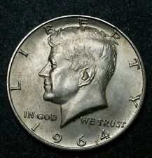 1964 ☆50 Cents☆Genuine US Kennedy ☆Silver Half Dollars Coin. No Reserve