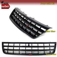 Black Badgeless Sport Front Grille Grill for Volkswagen VW 03-07 Touareg 04 05