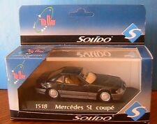 MERCEDES BENZ 500 SL COUPE HARD TOP BLACK SOLIDO 1518 1/43 CLOSED NOIRE NOIR
