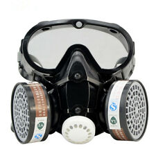 Respirator Gas Mask Safety Chemical Anti-Dust Filter Military Eye Goggle Set HOT