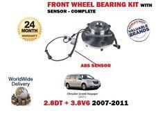 FOR CHRYSLER GRAND VOYGER 2.8TD 3.8 V6 2007  FRONT WHEEL BEARING + ABS SENSOR