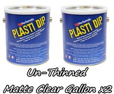 2 Gallons Matte Clear UNTHINNED Performix Plasti Dip Concentrate FULL STRENGTH