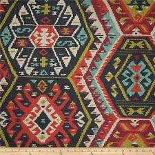 Longrock Fiesta Home Decor Fabric by P Kaufmann, Faux Kilim Print Fabric Yardage