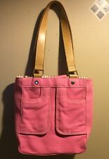 Tommy Hilfiger Pink Tote Canvas Bag