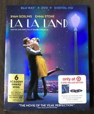 LA LA LAND BLU RAY + DVD TARGET EXCLUSIVE BONUS DISC WITH SLIPCOVER FREE SHIPPIN