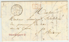 France Stampless Cover - 1845 Guingamp to St-Brieux