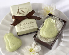 50 Perfect Pair Scented Pear Soap Bridal Wedding Favors in Gift Box