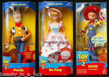 Woody and Bo Peep Doll Jessie Cowgirl Disney Toy Story 2  NRFB Lot 3 Good