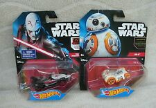 """Hot Wheels Star Wars Character Car 2-Pack -  """"The Inquisitor"""" & """"BB-8"""" ~ NEW"""