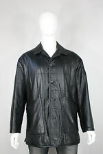 Yves Saint Laurent leather jacket M pour homme quilted black mint field YSL