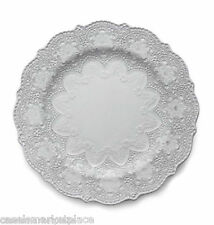 Arte Italica Merletto White Lace Set of 4 Dinner Plates Made in Italy