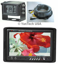 """7"""" COLOR LCD MONITOR CCD REAR VIEW BACKUP CAMERA SYSTEM CCD INFRARE + 32' CABLE"""