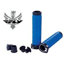 Fly Racing Grip Lock Grips Blue Handlebar ATV Snowmobile Quad 4 Wheeler Race