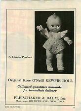 1946 PAPER AD Original Rose O'neill Kewpie Doll Cameo Fleischaker & Baum