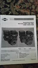 Briggs & Stratton Operator/Owner Manual for Multiple Models