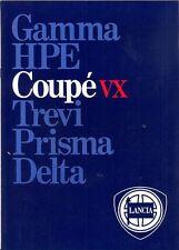 LANCIA BETA COUPE VOLUMEX VX mercato del Regno Unito BROCHURE DI VENDITA
