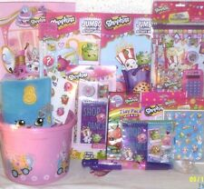 NEW SHOPKINS EASTER TOY GIFT BASKET PLAYSET TOYS BOOKS SCHOOL SUPPLIES EGG HUNT