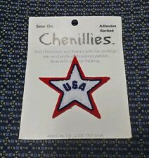 CHENILLIES USA AMERICAN STAR Sew-On Patch