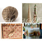 100M Jute Twine String Natural Craft Floral Wedding Gift Tags Wrap Craft Decor E