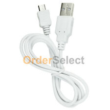 USB White Micro Battery Data Charger Cable for Samsung Rugby 4/LG G4/HTC One M9