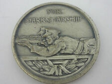 Stunning Cased Sterling Silver Country Life competition medal marksmanship 1978