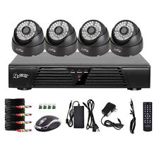 4CH CCTV HD SPY D1 H.264 DVR Motion Security 800TVL Alarm Day & Night Camera