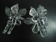 2pc Christmas  Acrylic Angel Christmas Tree Hanging pendant ornaments 8-9cm