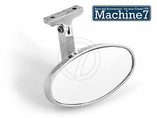 Chrome Interior Rear View Mirror Oval All Classic Vintage Car Bug Camper Mini T1