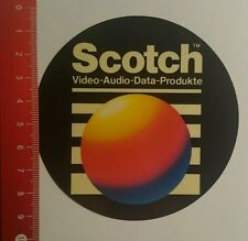 Aufkleber/Sticker: Scotch Video Audio Data Produkte (24071684)