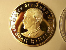 24k Germany Adolf Hitler Gold Nazi Coin WW2 999 OZ Deutschland Reich..