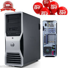 Dell Precision T7500 Xeon X5650 de 2,66 GHz base hexagonal de 24 GB DDR3 160ghdd Ati 3d V5700