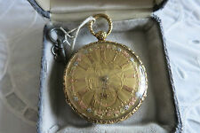 Antique M. I. TOBIAS 18kt. Gold Key Pocket Watch 13 Jewels w/Engraved Face