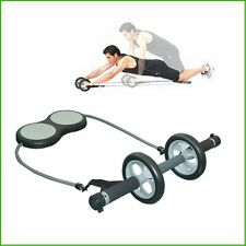 Abdominal Exercise Wheel w Supporting Knee Pads Abs Machine Total Body Training