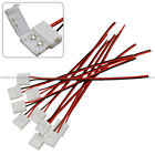 10PCS 10mm 2Pin Free Solder Connector Cable for LED Strip 5050 5630 Single Color