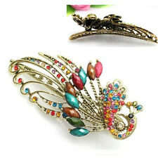 Vintage Crystal Peacock Hair Clips Hairpins C- for hair clip Beauty Tools T1