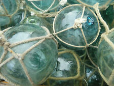 "Japanese Glass Fishing FLOATS 2"" Netted LOT-30 Round Balls Bridal Pool Tiki Vntg"