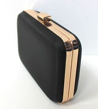 HUGO BOSS NUIT BLACK & GOLD LADIES CLUTCH BAG / HANDBAG / EVENING BAG
