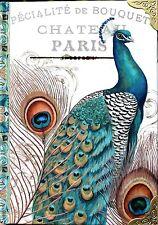 eNCHANTEE aCCESSORIES Majestic Peacock Note Book Journal Embossed Metal Corners