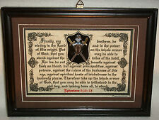 PUT ON THE WHOLE ARMOR OF GOD-Bible,Verse,Scripture,Plaque,Christian,Framed Gift