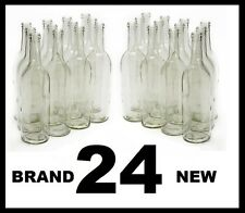 WINE BOTTLES 24 CLEAR FLINT BORDEAUX BRAND NEW 2 CASES OF 12 750ml SPEED SHIPPED