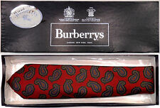 "BURBERRYS NEW VINTAGE PAISLEY SILK TIE MADE IN ENGLAND W3.5"" - IN ORIG. GIFT BOX"