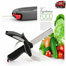 Hot 2-in-1 Clever Cutter Cutting Board Scissors Food Choppers Vegetable Slicer