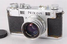 EXC++++ Nikon S Rangefinder Film Camera  w/NIKKOR H C 5cm f2 from japan #399